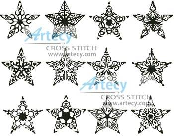 cross stitch pattern Stars