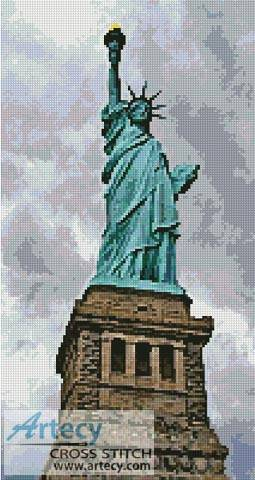 cross stitch pattern Statue of Liberty