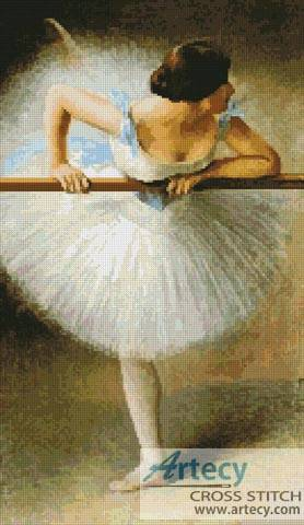 cross stitch pattern The Ballerina