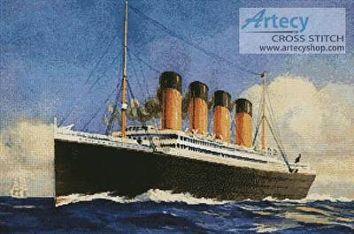 cross stitch pattern Titanic 2