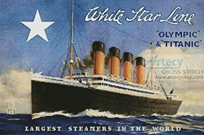 cross stitch pattern Titanic Advertisement