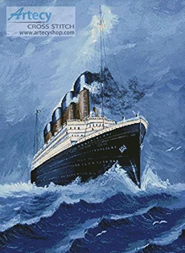cross stitch pattern Titanic