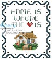 cross stitch pattern Tiny Home Sampler