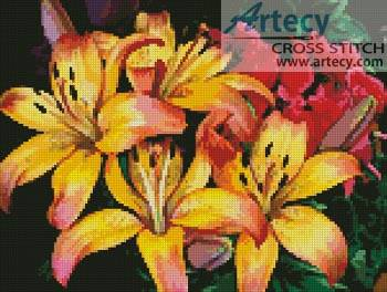 cross stitch pattern Tropical Flowers
