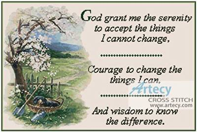 cross stitch pattern The Serenity Prayer