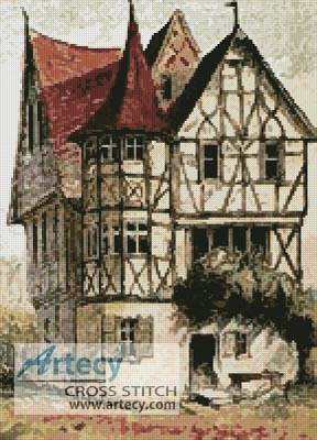 cross stitch pattern Tudor Home
