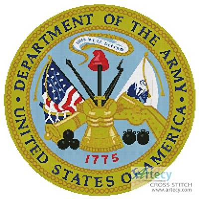 cross stitch pattern US Army Seal