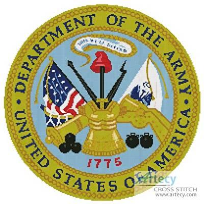 cross stitch pattern US Army Seal