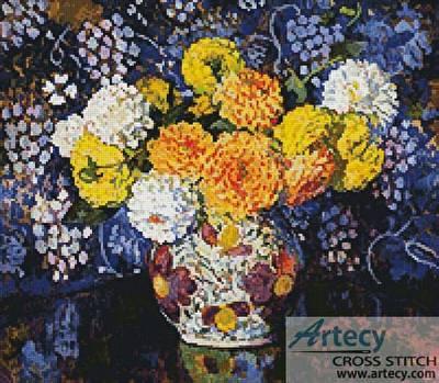 cross stitch pattern Vase of Flowers