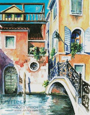 cross stitch pattern Venice Watercolour