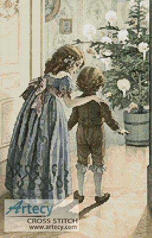 cross stitch pattern Victorian Christmas 2