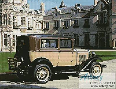 cross stitch pattern Vintage Car