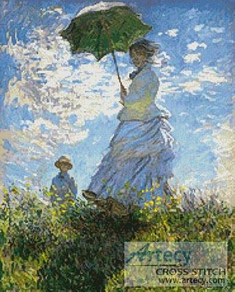 cross stitch pattern Woman with a Parasol