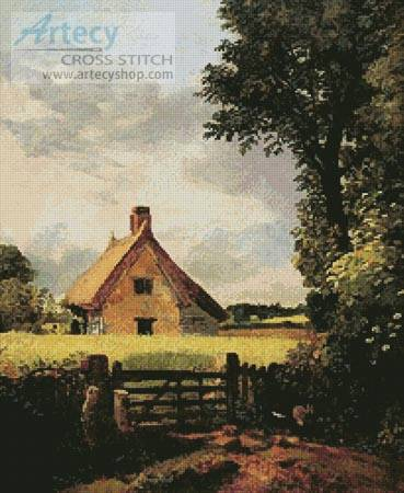 cross stitch pattern A Cottage in a Cornfield