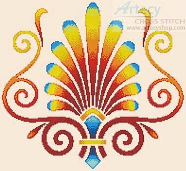 cross stitch pattern Art Deco Design