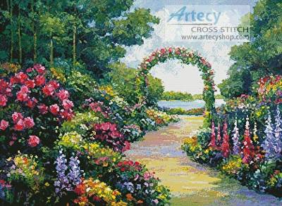 cross stitch pattern Lakeside Arbor