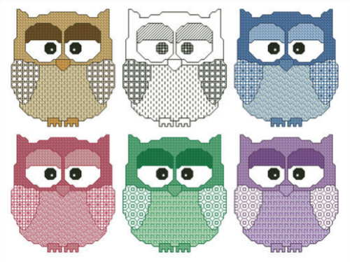 cross stitch pattern Artsy Owls