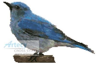 cross stitch pattern Blue Bird
