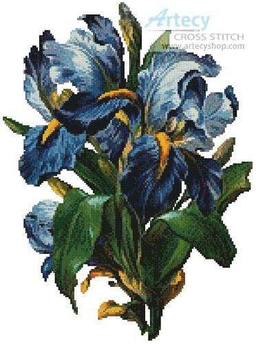 cross stitch pattern Bunch of Irises