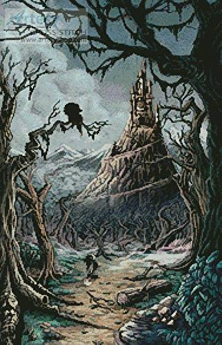 cross stitch pattern Bosque Tenebroso (Dark Forest)