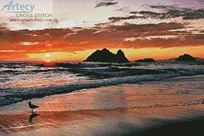 cross stitch pattern Californian Sunset