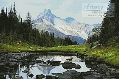 cross stitch pattern Canadian Landscape