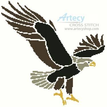 Eagle Design Cross Stitch Pattern Eagle