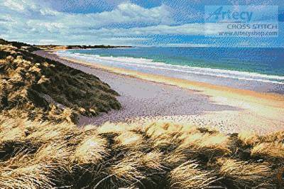 cross stitch pattern Embleton Bay, Northumberland