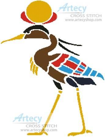 cross stitch pattern Egyptian Crane
