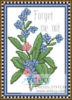 cross stitch pattern Forget Me Not Flower