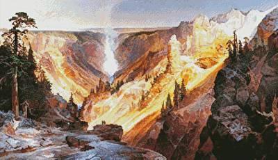 cross stitch pattern Grand Canyon of the Yellowstone