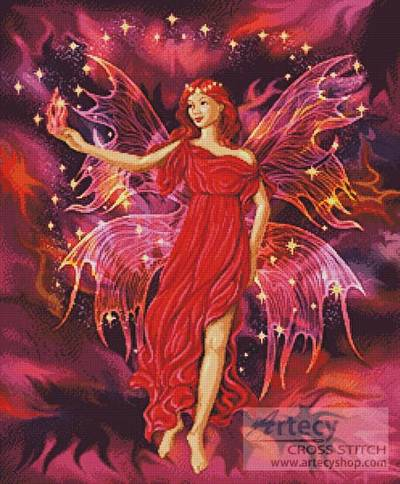 cross stitch pattern Fairy Flame
