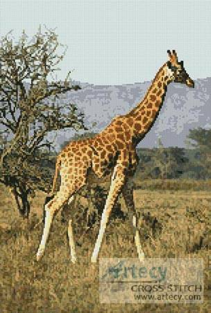 cross stitch pattern Giraffe 1