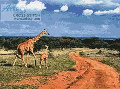 cross stitch pattern Giraffes 2