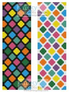 cross stitch pattern Groovy Bookmark