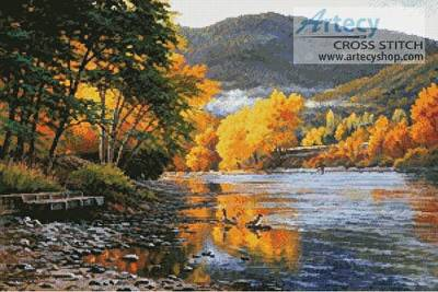 cross stitch pattern October on the Rogue