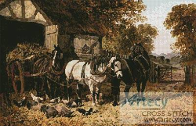 cross stitch pattern The Hay Cart