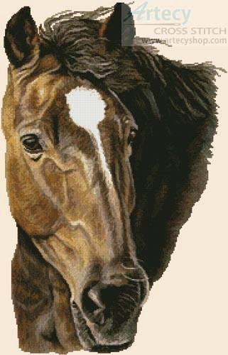 cross stitch pattern Bay Horse