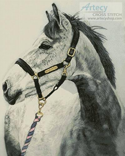 cross stitch pattern Grey Horse
