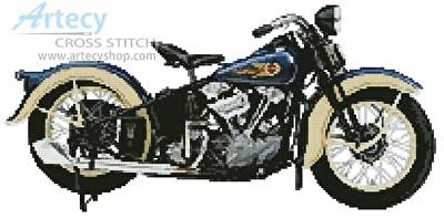 cross stitch pattern 1936 Harley Davidson Knucklehead