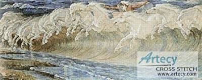 cross stitch pattern Horses of Neptune