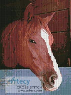cross stitch pattern Horse Head