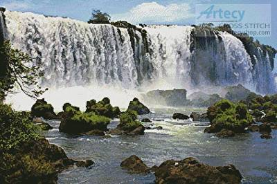 cross stitch pattern Iguazu Falls