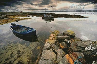 cross stitch pattern Islay, Scotland