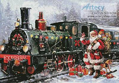 cross stitch pattern Christmas Express