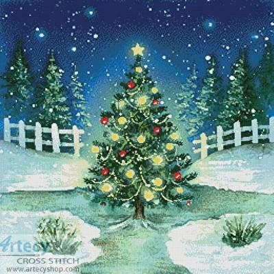 cross stitch pattern Christmas Tree