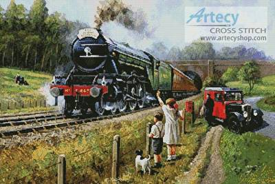 cross stitch pattern The Flying Scotsman