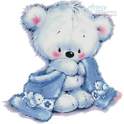 cross stitch pattern Teddy Boy