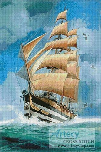 cross stitch pattern Tall Ship