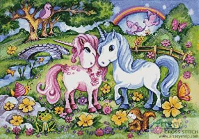 cross stitch pattern Unicorns